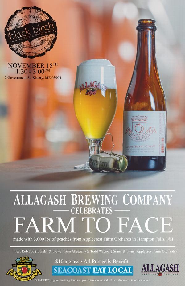 Farm to Face Allagash event