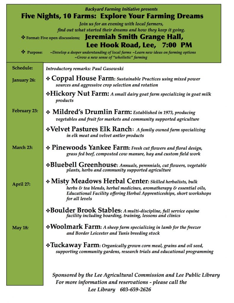 Lee Backyard Farming Initiative