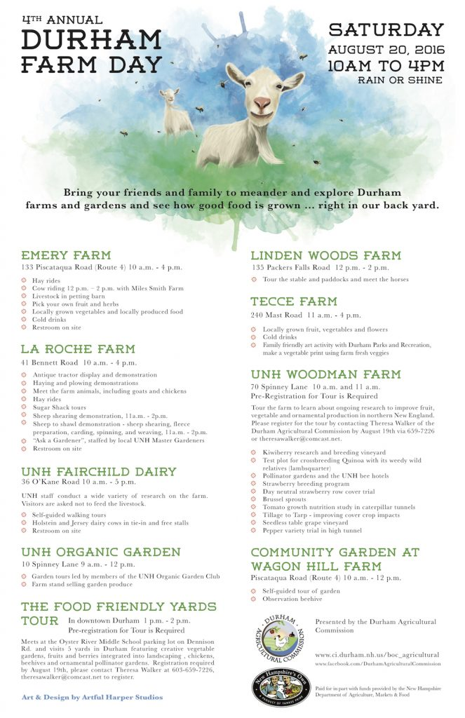 Durham Farm Day Flyer